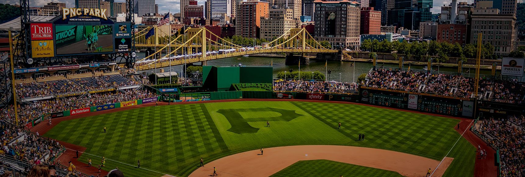 Panoramic shot of Pittsburgh from PNC park