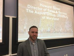 Photo of Howard Ticker and his presentation for CPASS students.