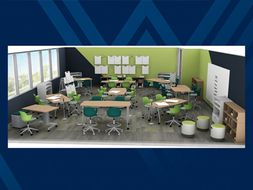 Photo of proposed active classroom
