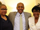 Dean Deana Brooks standing in between two women at a retirement reception.