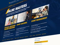 A screenshot of the cpass online masters homepage.