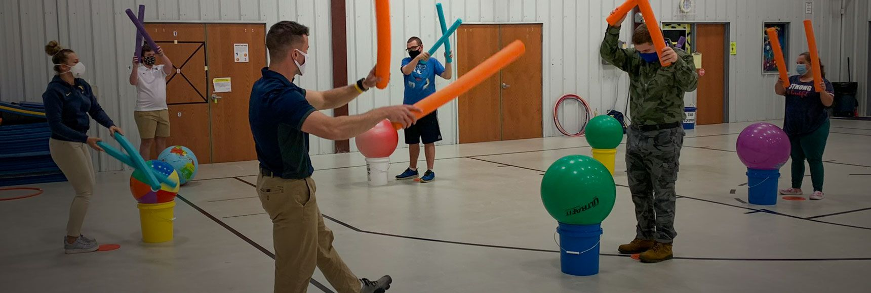 Student teachers provide adapted physical education instruction