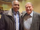 Dana Brooks and Don Nehlen after the lecture