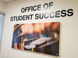 The entrance to the office of Student Success