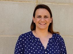 CPASS grad Amy Sidwell is shown, who will manage WVU health and wellness efforts.