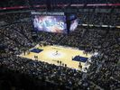 View from the top of Bankers Life Field-house during a Pacers game