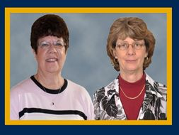 Carol Straight, left, and Robin McKinney, right, are retiring from CPASS.