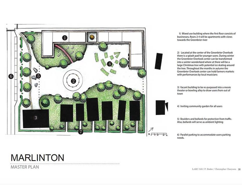 landscape architecture drawing of marlinton