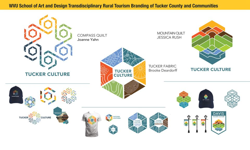 Three symbol examples proposed to Tucker County and communities.
