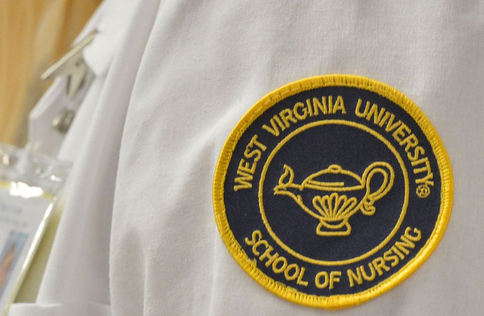 The WVU School of Nursing coat patch.