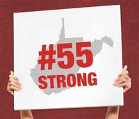 sign that says #55 strong