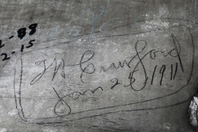 W. Crawford signed his name on the interior of the cupola at Woodburn Hall.