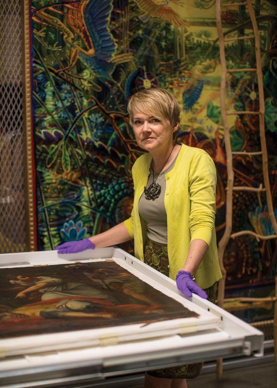 Rhonda Reymond at the Art Museum of WVU
