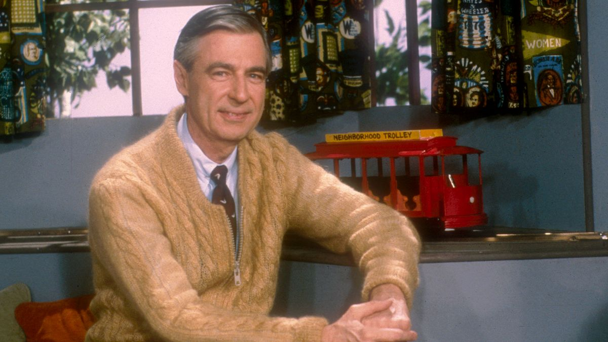 Mister Rodgers with trolley photo