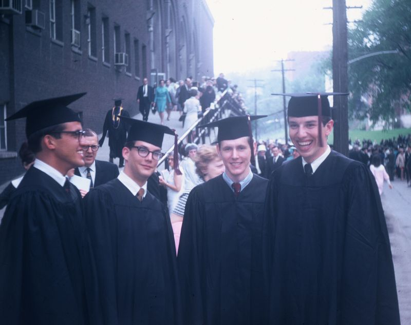 Jay Chattaway (second from left) at graduation.