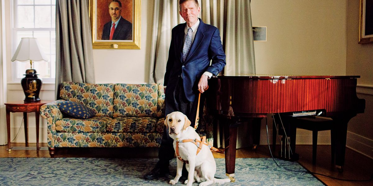 Jim Kutsch and guide dog taken at The Seeing Eye.