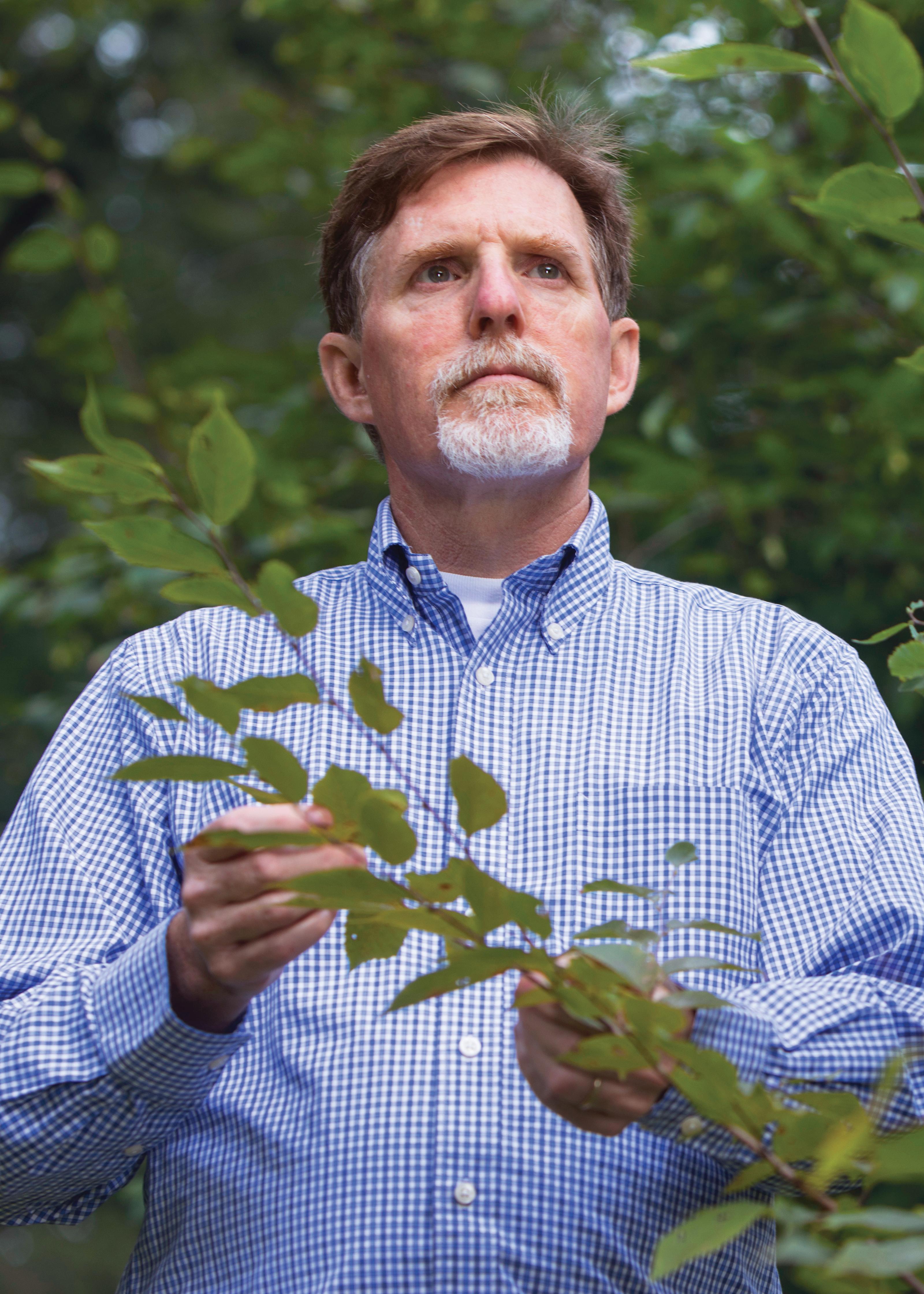 Greg Dahle at the arboretum.