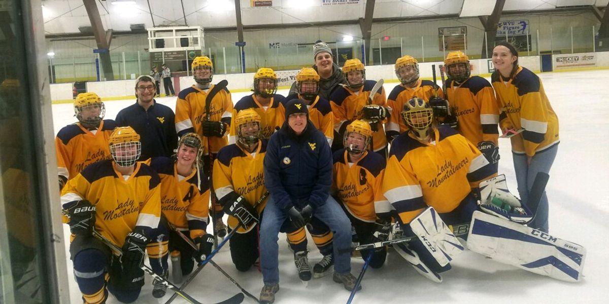 WVU women's club hockey team.