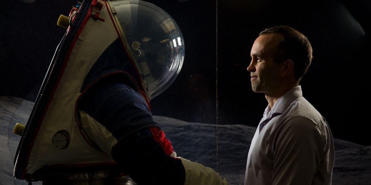 Adam Korona and Spacesuit