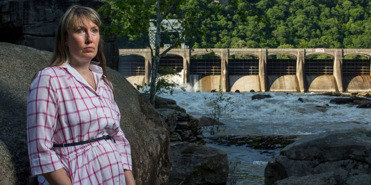 Catherine Venable Moore at Hawks Nest Dam