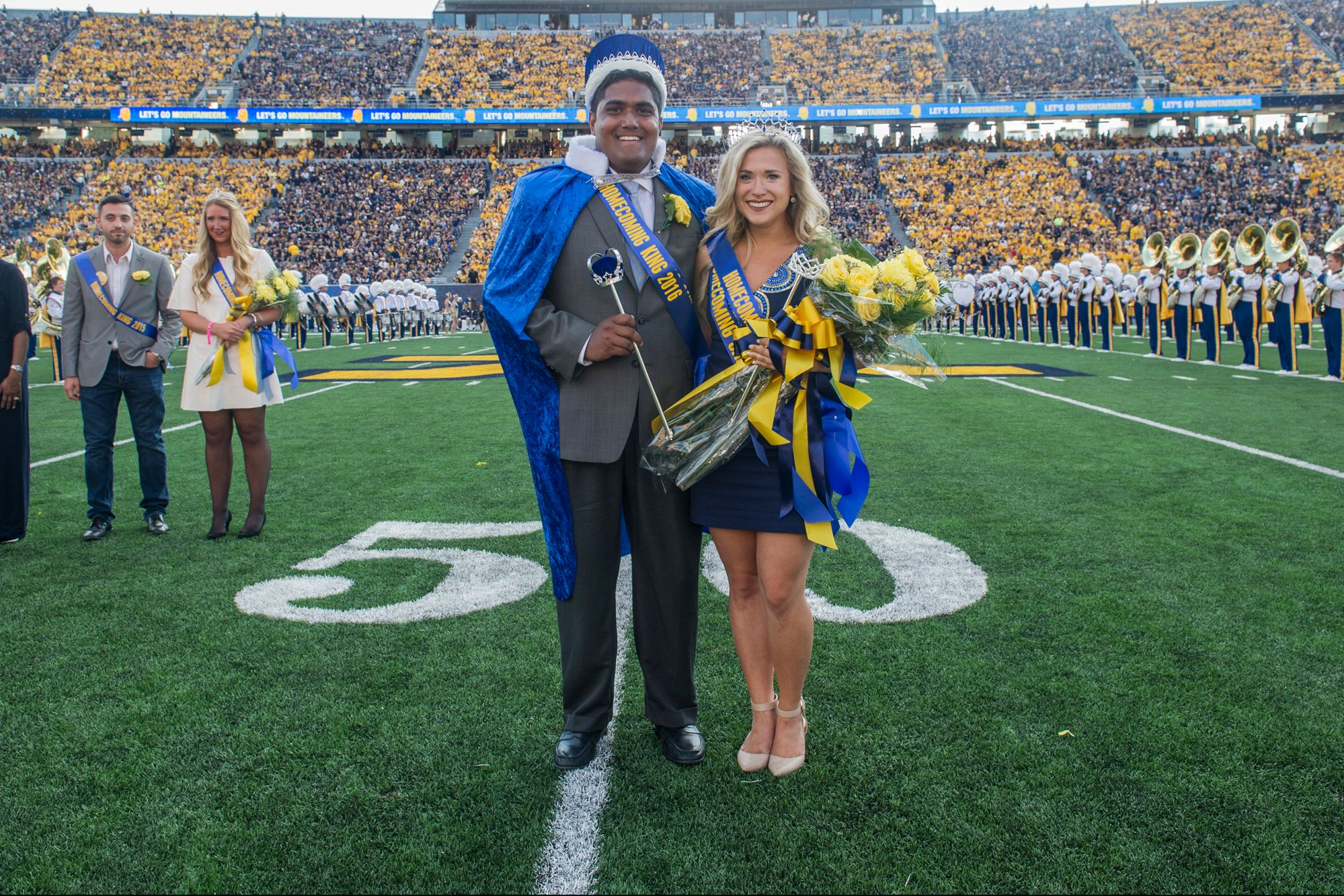 Roshan Daniel and Kallie Nealis, the 2016 Homecoming King and Queen.