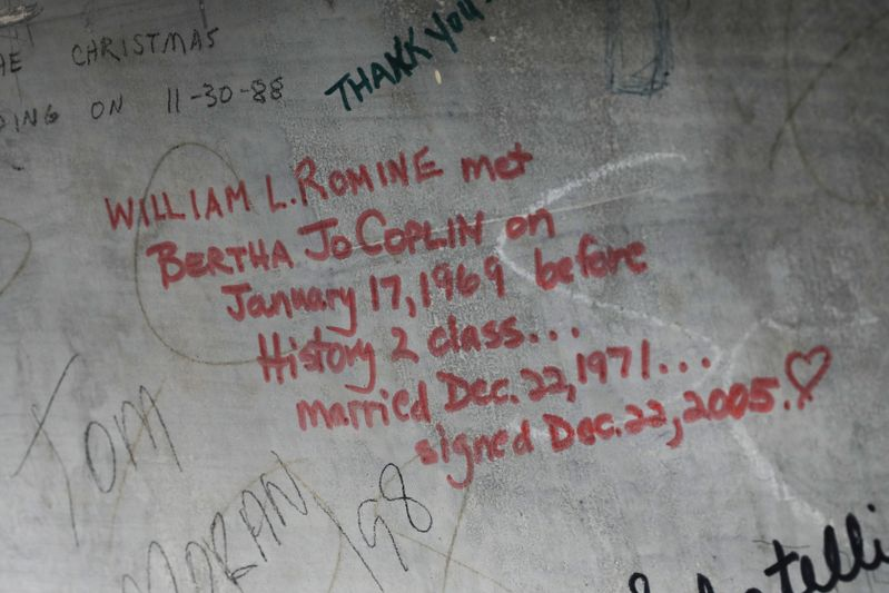 William Romine and Bertha Jo Coplin memorialized their love at Woodburn Hall in writing.