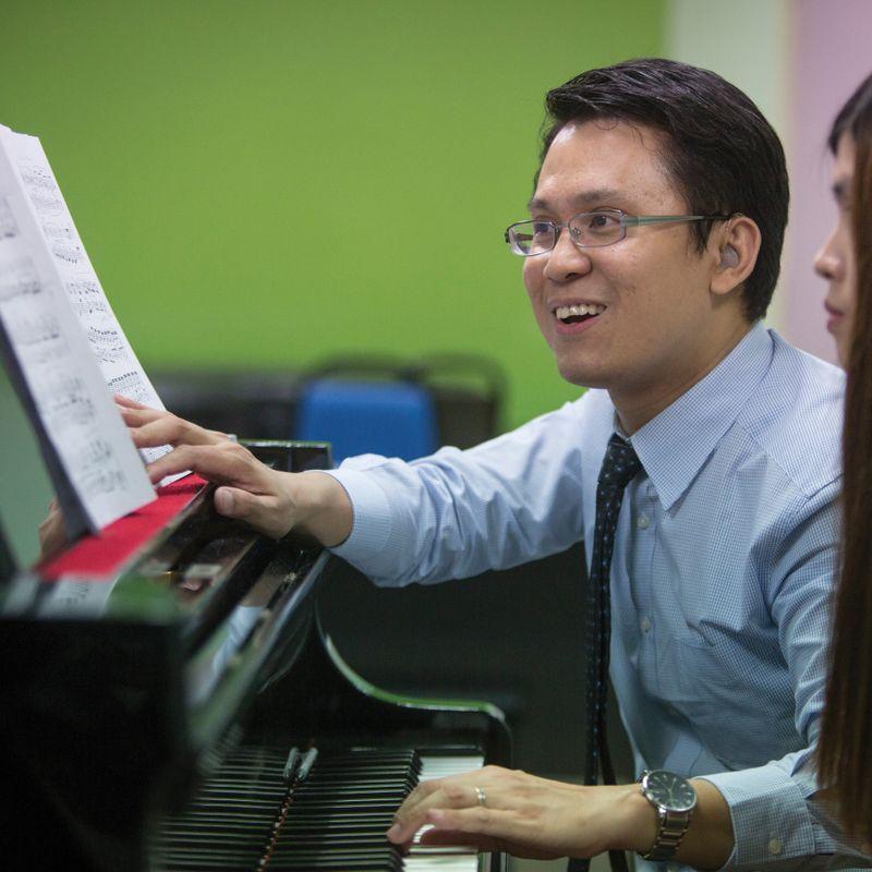Yew Choong Cheong at the piano.