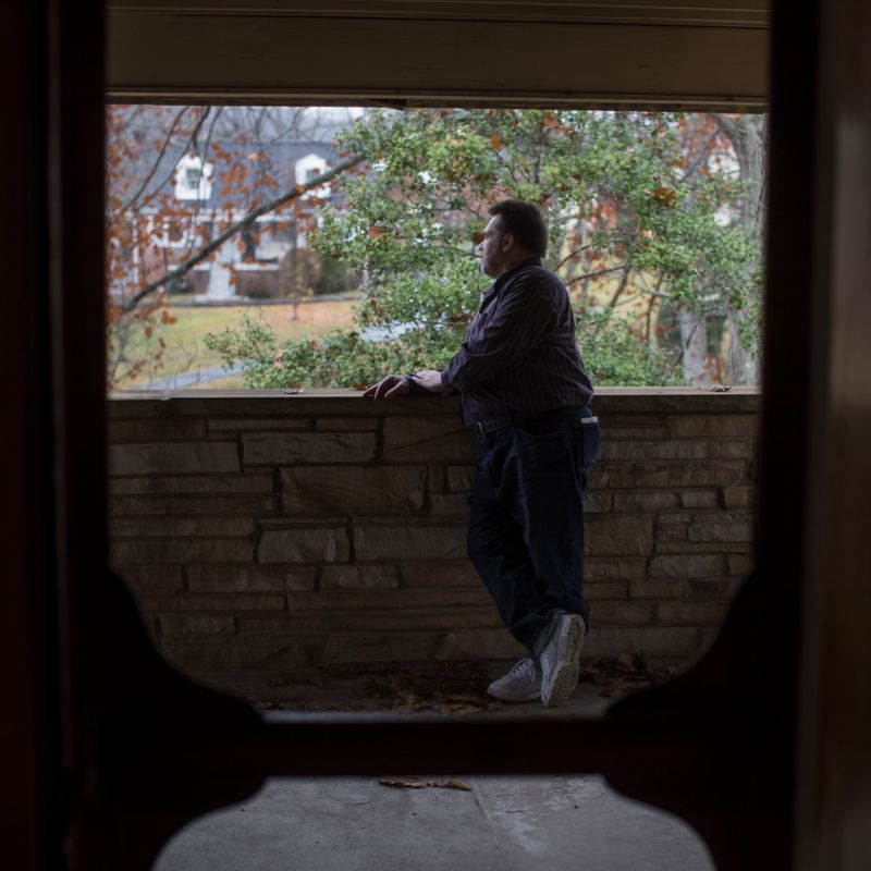 Photo of Joe Lavigne on porch