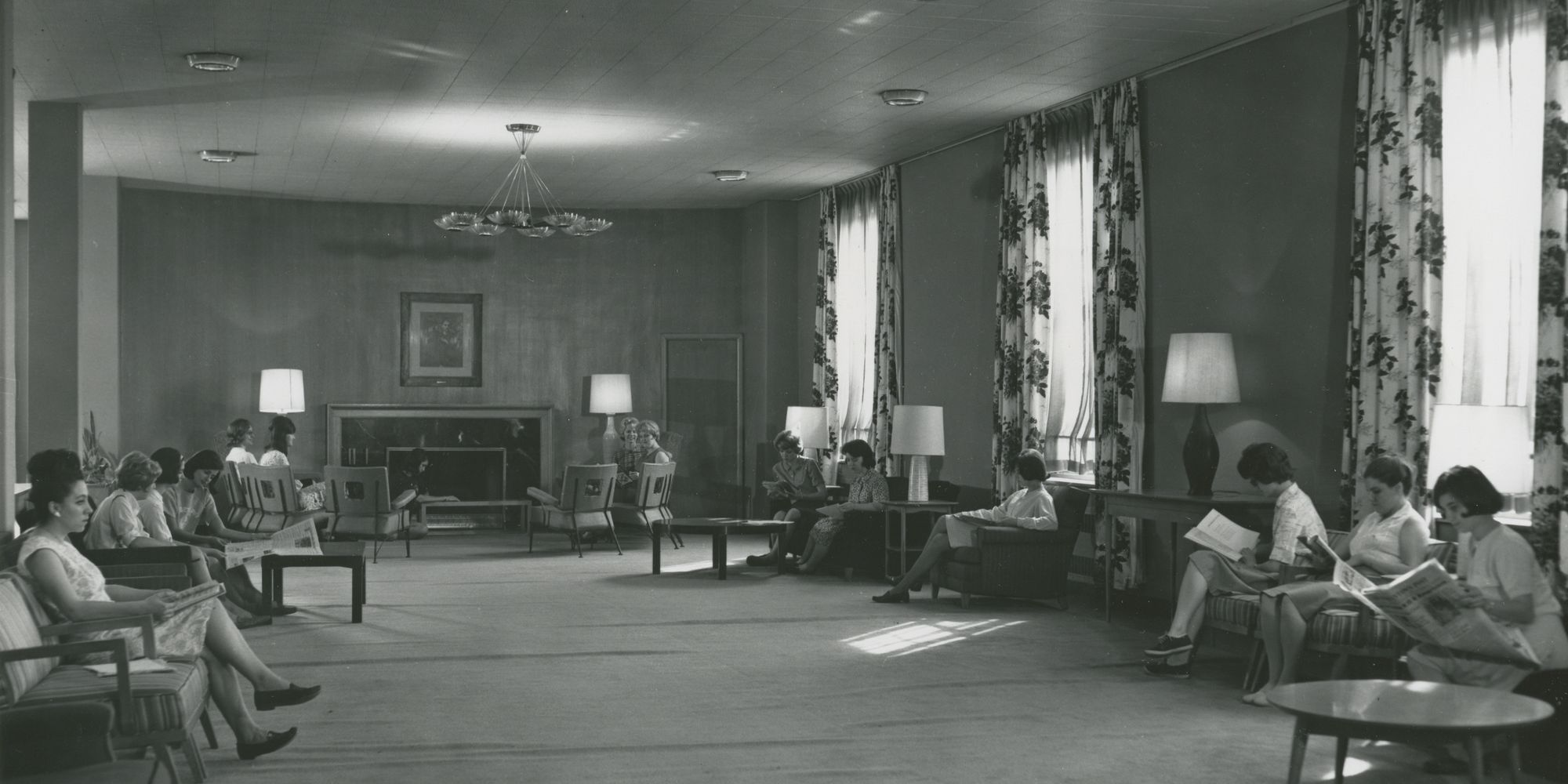 The interior of Arnold Hall early in its life.