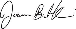 Joanna Burt-Kinderman signature