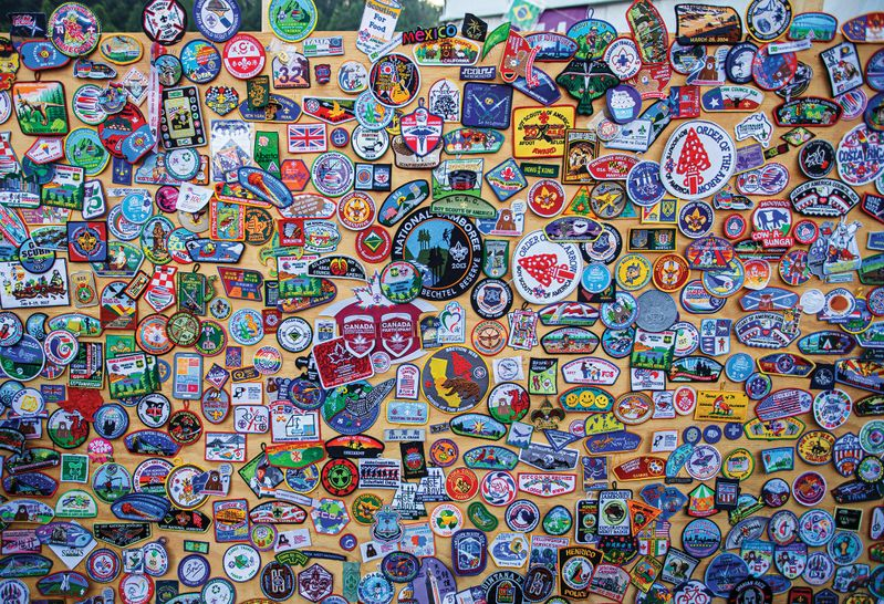 Boy Scout patch board