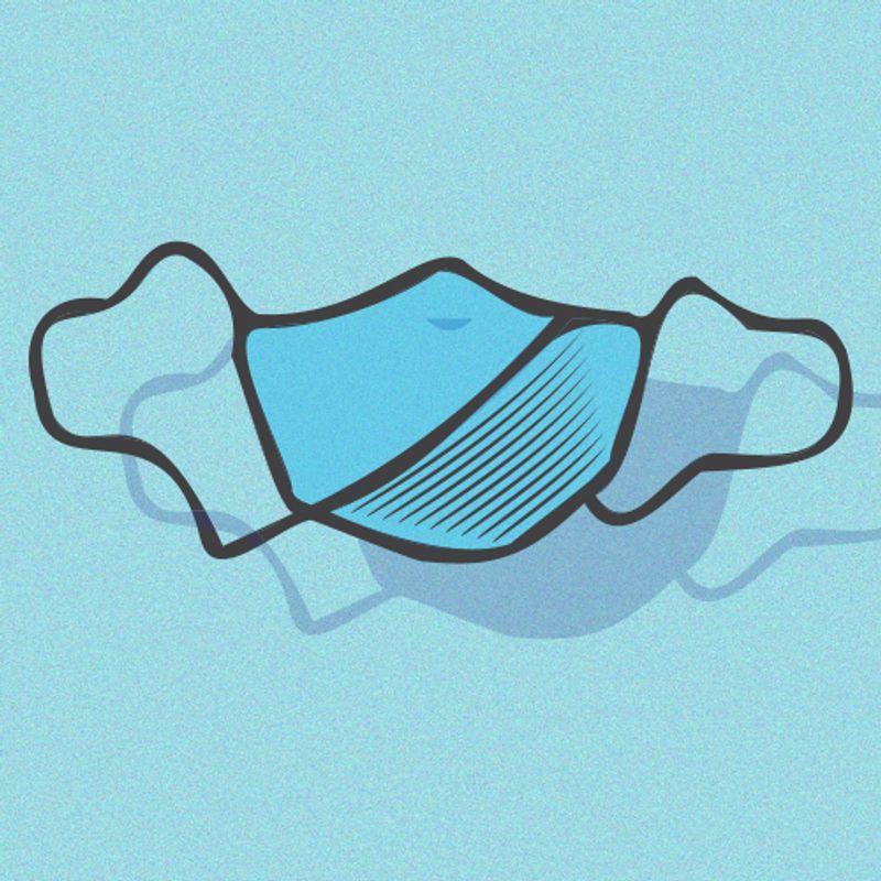 Illustration of a medical face mask
