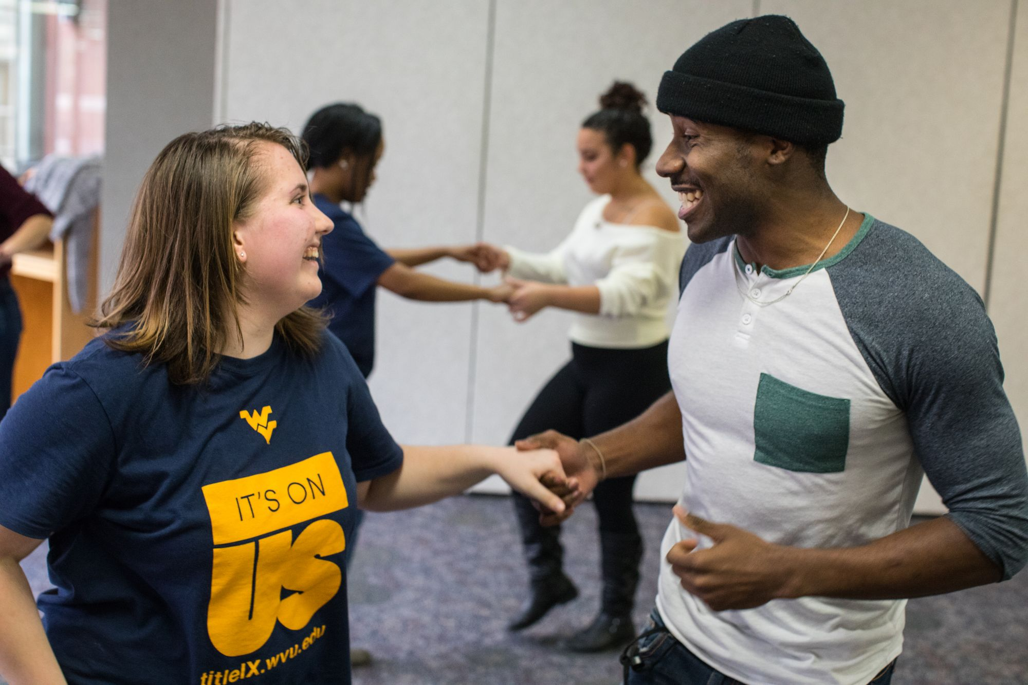 Students take part in a dance session as part of Culturas WVU.