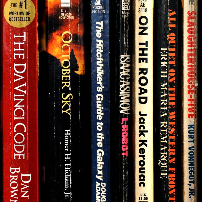 Image of books on a shelf.