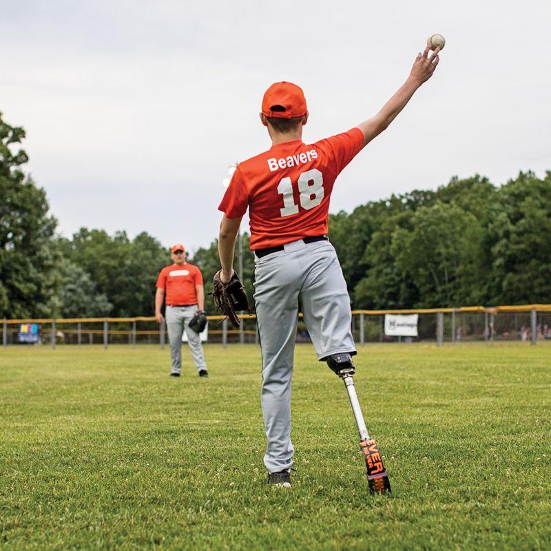 Gage Beavers throws a baseball