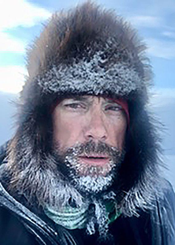 John Logar competing in Iditarod Trail Invitational
