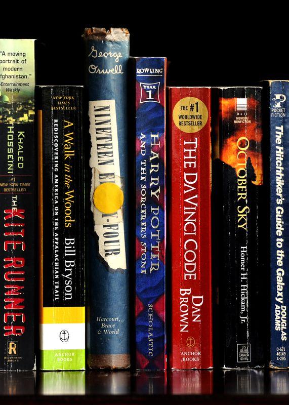 Image of books on a shelf