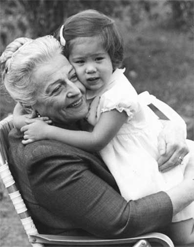 Pearl Buck and a Welcome House child in the late 1960s