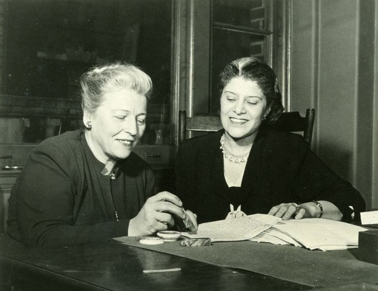 Pearl S. Buck and co-author, Eslanda Robeson.  Their book, American Argument, was a discourse on American racism, January 24, 1949