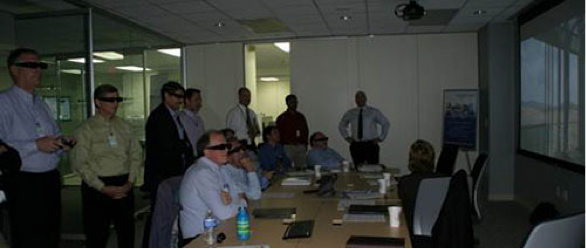 Users interact with the AVESTAR 3D virtual IGCC immersive training system Image.