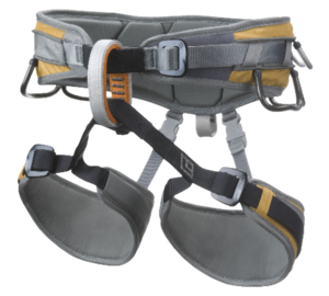 Bulky, heavier looking harness with a thick waist belt and leg loop for maximum comfort.