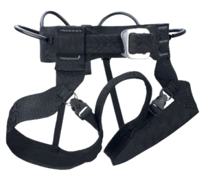 Straps on minimum comfort harnesses are a lot slimmer and lightweight looking with fewer buckles.
