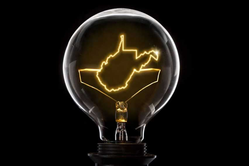 West Virginia in a Lightbulb