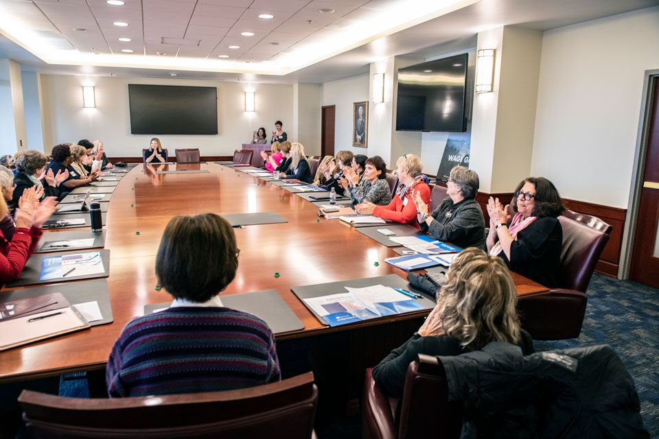 West Virginia Forward members discuss advancement for women in the workforce.