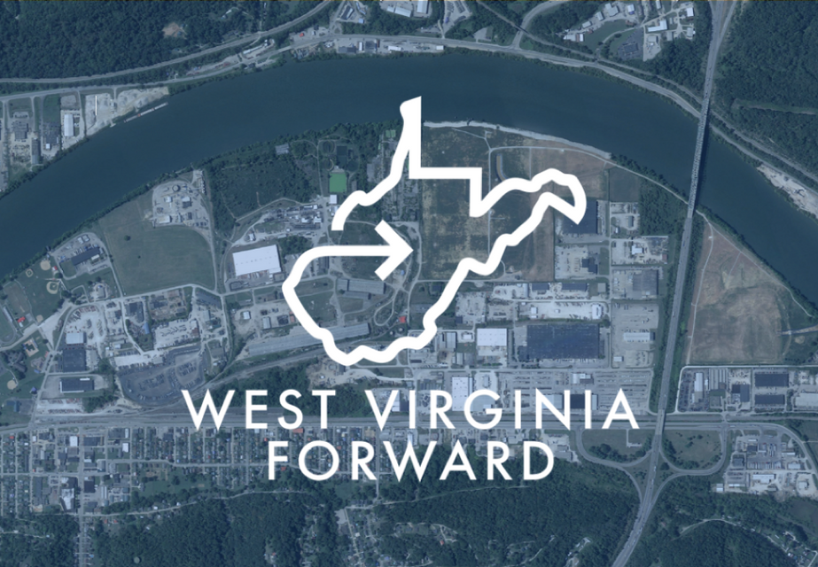 Aerial shot of West Virginia potential sites