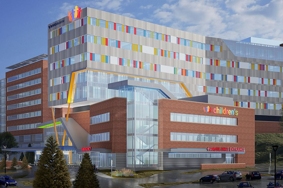 Slated for completion in 2021, the 150-bed, nine-story hospital is under construction next to J.W. Ruby Memorial Hospital in Morgantown, which houses existing WVU Medicine Children's services on its sixth floor.
