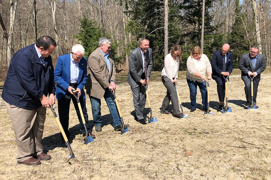 West Virginia University Extension Service broke ground this week on the Annette S. Boggs Educational Center, a 6,000-square-foot facility, which will be located at WVU Jackson's Mill.