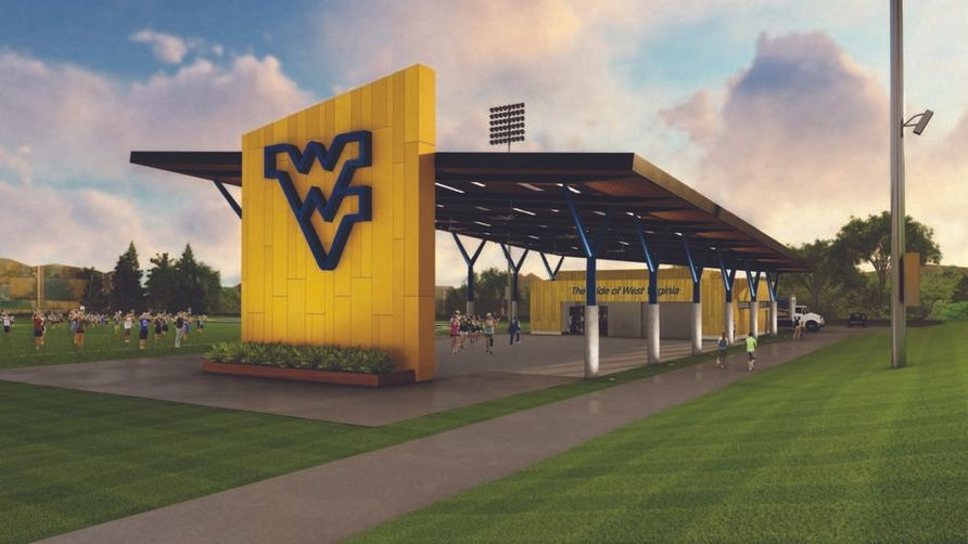 Rendering of the new WVU Marching Band Practice Facility