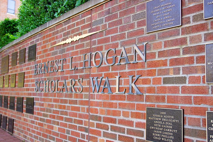 Fifty-three donors are being honored by having their name engraved in bricks that will be placed in the Ernest L. Hogan Walk, the pathway located at the downtown campus library.
