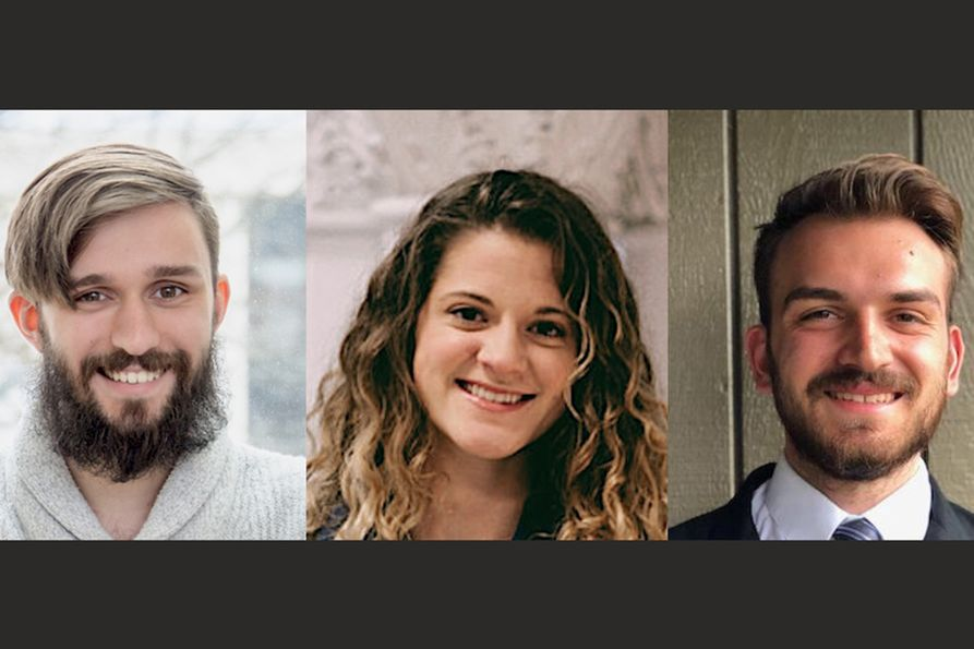 Jared Beard, Kinsey Reed and Evan Cramer are the 2020 WVU Ruby Fellows.